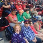 The whole gang at the Cardinal's game.