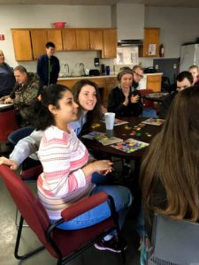 Students play bingo at ACT