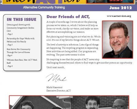 Image of the first page of the June 2012 ACT Newsletter