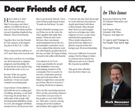 Image of the first page of the May 2017 ACT Newsletter