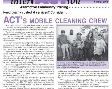 Image of the first page of the Spring 2002 ACT Newsletter
