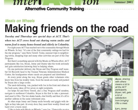 Image of the first page of the Summer 2001 ACT Newsletter