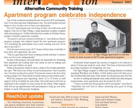 Image of the first page of the Summer 2002 ACT Newsletter