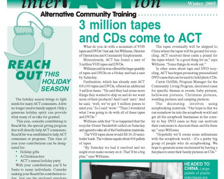 Image of the first page of the Winter 2005 ACT Newsletter