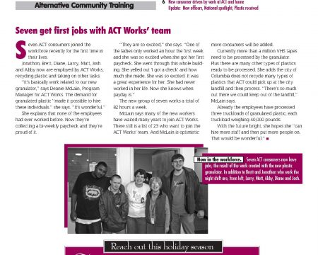 Image of the first page of the Winter 2008 ACT Newsletter